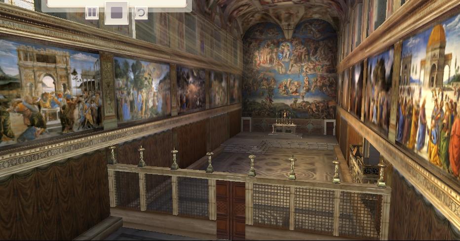 cappella sistina ricostruzione 3D